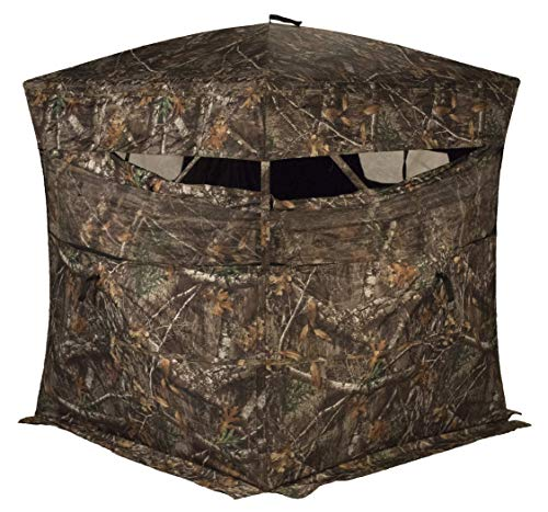 RHINO Blinds R150-RTE 3 Person Hunting Ground Blind, Realtree Edge