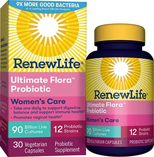 Renew Life - Ultimate Flora Probiotic Women's Care, Shelf Stable Probiotic Supplement - 90 billion - 30 vegetable capsules