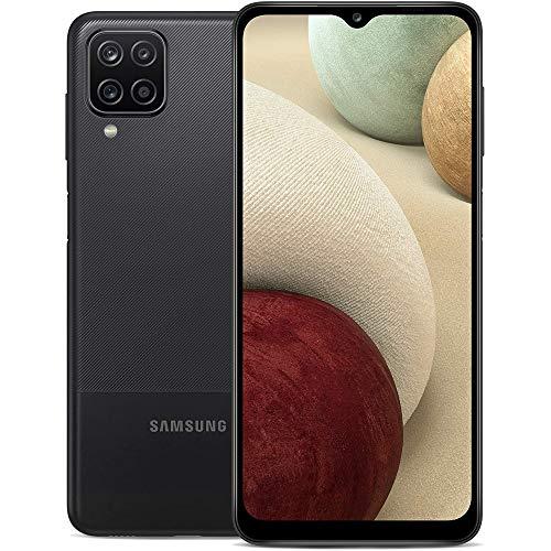 Samsung Galaxy A12 (64GB, 4GB) 6.5' HD+, Quad Camera, 5000mAh Battery, Dual SIM GSM Unlocked Global 4G Volte (T-Mobile, AT&T, Metro) International Model A125M/DS (64GB SD Bundle, Black)