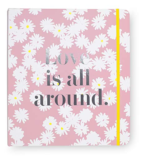 Kate Spade New York Blue Bridal Wedding Planner Binder, Personal Organizer for Bride with Pages for To-Do Lists, Notes, Budgeting, Invitations, Love Is All Around