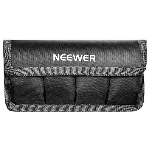 Neewer DSLR Battery Bag/Holder/Case for AA Battery and lp-e6/ lp-e8/ lp-e10/ lp-e12/ en-el14/ en-el15/ fw50/ f550 and More, Suitable for Battery of Nikon D800, Canon 5DMKIII, Sony A77