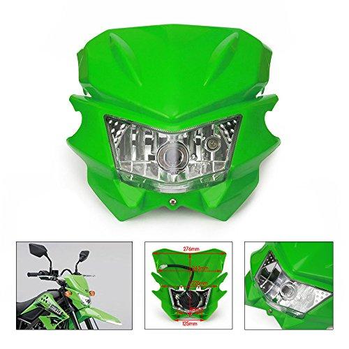 Universal Headlights Headlamp For Kawasaki KX125 KX250 KXF250 KXF450 KLX200 KLX250 KLX450 KX65 KX85 Dirt Bike Green