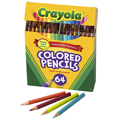 Crayola Mini Colored Pencils in Assorted Colors, Coloring Supplies for Kids, 64ct, 3' x 1.3' x 5.8'