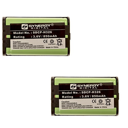 Panasonic KX-TG4500 Cordless Phone Battery Combo-Pack Includes: 2 x SDCP-H326 Batteries