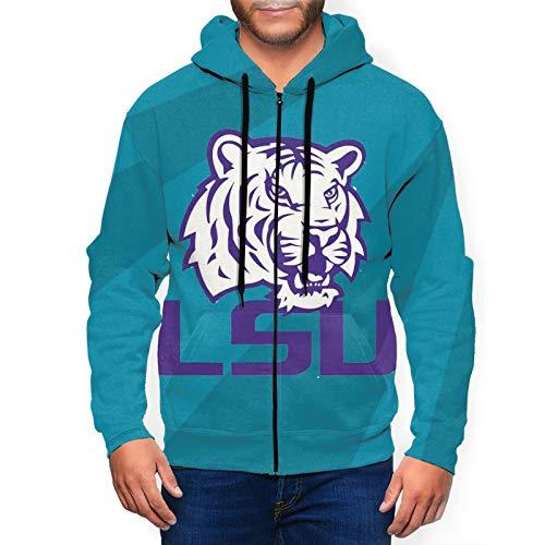 Lsu-Tigers-Football Men And Women Women'S Fashion Hoodies & Sweatshirts,Black Zip Up Hoodie,Maverick Fashion Print Graphic Mens Hoodies.3x-Large