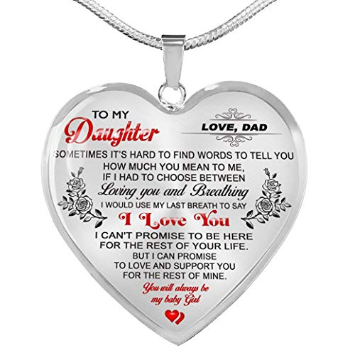 Fa Gifts To My Daughter Necklaces Pendants - Father and Daughter Necklace - Gift from Daddy - Luxury Necklace Silver On Birthday, Anniversary - Includes Gift Box!