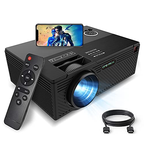 Mini Projector,ONE·MIX Video Outdoor Movie Projectors, 1080P Supported Compatible with fire Stick TV,LED Portable Home Theater Projector, Proyector Compatible with Video Games, HDMI,USB,TF,AUX,AV