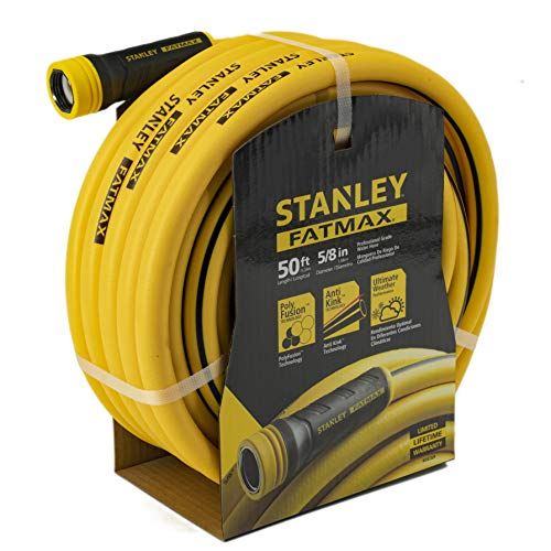 Stanley Fatmax Professional Grade Water Hose, 50' x 5/8', Yellow 500 PSI