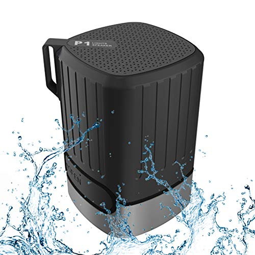 Portable Bluetooth Speaker,Bluetooth 5.0, 360 HD Surround Sound & 12H Playtime,IPX5 Waterproof,with Hook,Hung on Bicycle and Backpack.for Travel, Outdoors, Home and Party