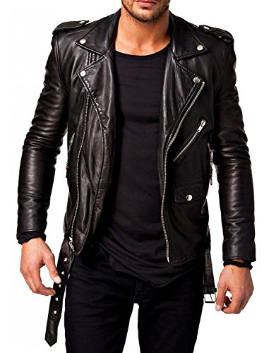 Laverapelle Men's Genuine Lambskin Leather Jacket (Black, Extra Large, Polyester Lining) - 1501532