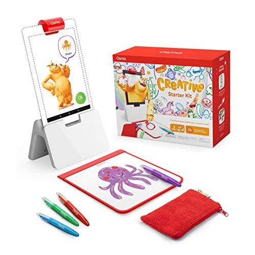 Osmo - Creative Starter Kit for Fire Tablet - 3 Educational Learning Games - Ages 5-10 - Creative Drawing & Problem Solving/Early Physics - STEM Toy - (Osmo Fire Tablet Base Included)