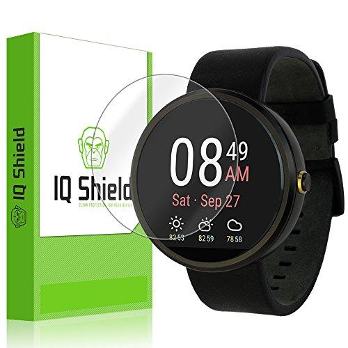 IQShield Screen Protector Compatible with Motorola Moto 360 (1st Gen 2014)(6-Pack) LiquidSkin Anti-Bubble Clear Film