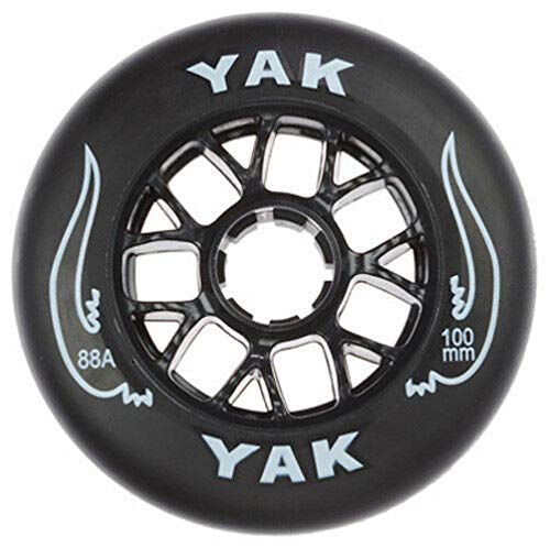 Yak 100mm x 88a Toro Inline Race/Scooter Wheel, 10 Wheels (Black on Black)