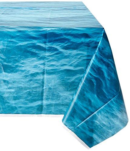 Ocean Waves Plastic Tablecloth, 108' x 54'