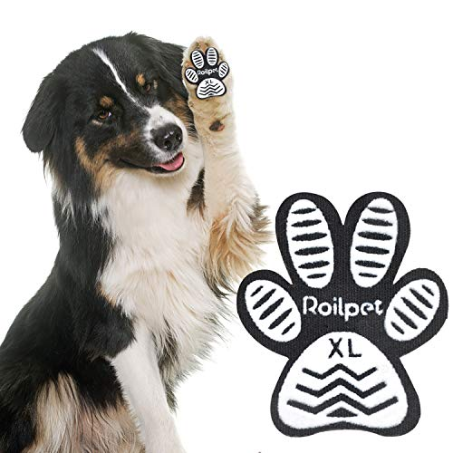 Roilpet Paw Pads for Dogs Traction - Provide Your Dog with Anti-Slip Grips from Slipping on Hardwood Floors, Especially for Senior Breeds for Indoors Wear (XL)