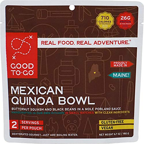 GOOD TO-GO Mexican Quinoa Bowl - Double Serving   Dehydrated Backpacking and Camping Food   Lightweight   Easy to Prepare