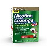 GoodSense Nicotine Polacrilex Lozenge 4mg, Mint Flavor, 72-count, Stop Smoking Aid, GoodSense Smoking Cessation Products