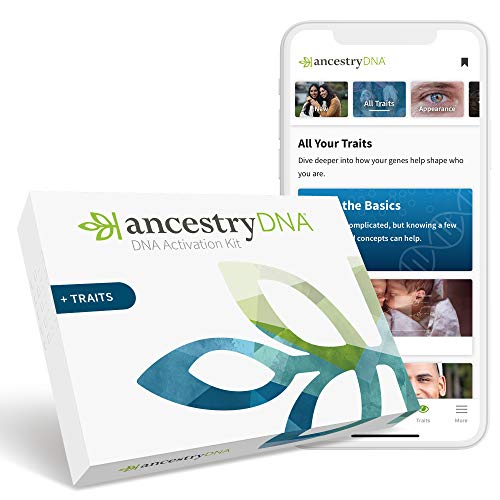 AncestryDNA + Traits: Genetic Ethnicity + Traits Test, AncestryDNA Testing Kit with 35+ Traits, DNA Ancestry Test Kit, Genetic Testing Kit