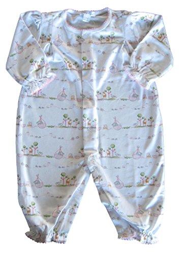 Kissy Kissy Baby Girls' Noah's Print Playsuit Ruffled, Pink, 12-18 Months
