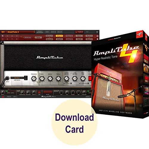 IK Multimedia AmpliTube 4 for Windows and Mac – Virtual Guitar and Bass Tone Studio Software (Download Card)