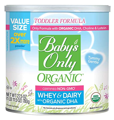 Baby's Only Whey Protein with DHA Toddler Formula - Non GMO, USDA Organic, Clean Label Project Verified, Value Size (Pack of 6), 165 Oz