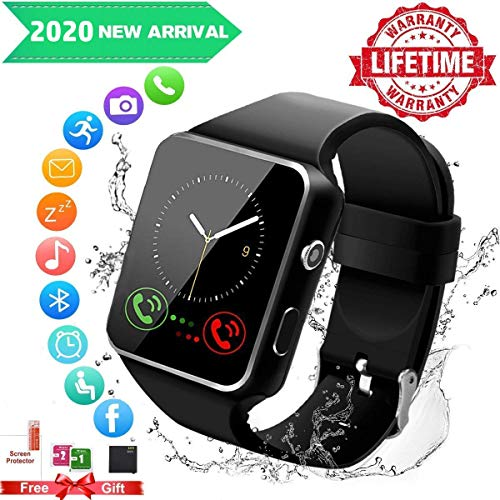 Smart Watch for Android Phones,Smartwatch for Men Women,Smart Watches with Camera Bluetooth Watch with SIM Card Slot Cell Phone Watch Smartwatch for Android Samsung Phone iOS XS X8 10 11