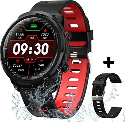 Smart Watch for Android iOS Phones, Waterproof Smart Watch, Fitness Tracker Smartwatch with Blood Pressure Heart Rate and Sleep Monitor, Smartwatch Compatible iPhone Android Phone for Men Women.