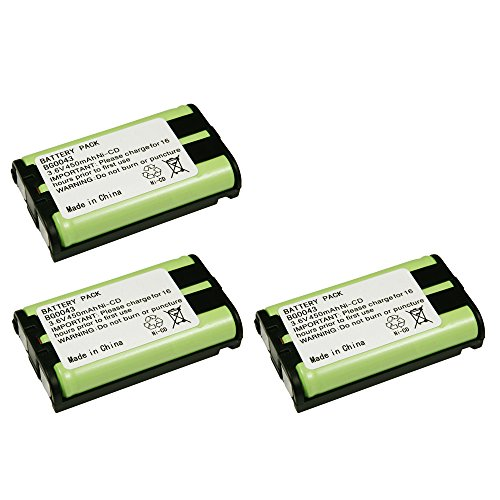 3 Pack Fenzer Replacement Cordless Phone Rechargeable Battery for Panasonic KX-TG4500 KX-TG5050 KX-TG5055 KX-TG5200 KX-TG5202 KX-TG5210 KX-TG5212 KX-TG5213 KX-TG5230 KX-TG5240 KX-TG5242 KX-TG5243