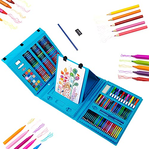 208 Pieces Art Supplies Kids Art Set Drawing Kit Coloring Case Kit Painting & Drawing Art Kits for Kids 9-12 Gifts Toys…