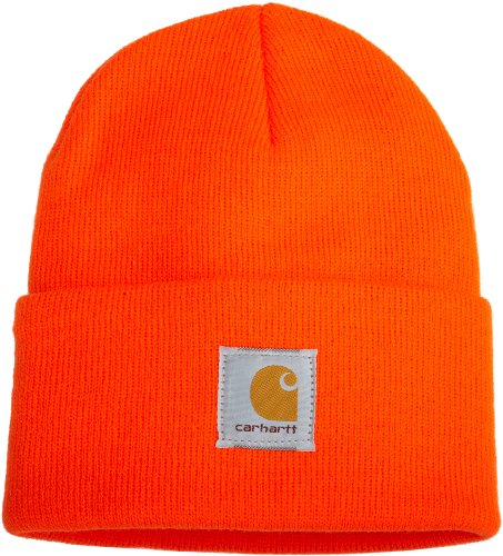 Knit Cuffed Beanie-Brite Orange-OFA