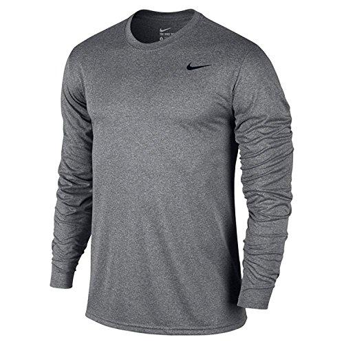 Nike Mens Legend 2.0 Long Sleeve Dri-Fit Training Shirt Carbon Heather/Black 718837-091 Size Medium