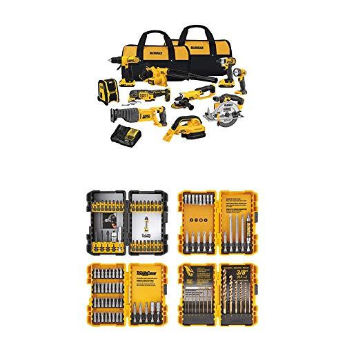DEWALT DCK1020D2 20V Combo Kit with DEWALT DWA2FTS100 Screwdriving and Drilling Set, 100 Piece