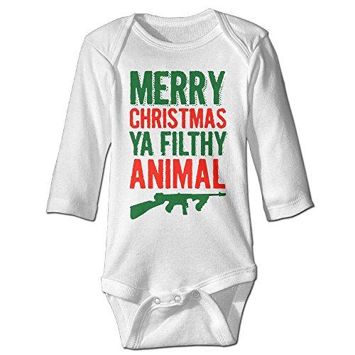 Merry Christmas Ya Filthy Animal Kids Boys Girls Baby Bodysuit Baby Onesie Clothing
