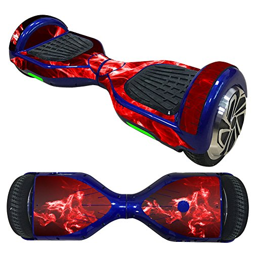 WANLIAN Self Balancing Scooter Sticker,Hoverboard Vinyl Decal wrap Cover,Smart Hover Scooter Protective Skin Wrap,Easy to Apply, Remove, and Change Styles,1 Piece (Red)