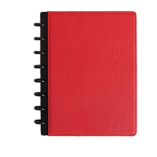 Staples 2724778 Arc Customizable Notebook System 5.5-Inch x 8.5-Inch Red Each