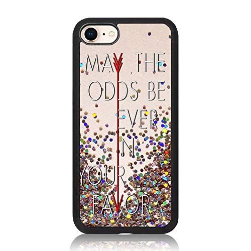 Hunger Games Quote Print iPhone 7 Case Soft TPU & Hard Back Shock Absorption Scratch Proof Slim Protective Case Cover for Apple iPhone 7