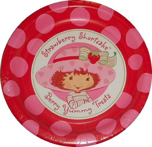 Strawberry Shortcake Dessert Plates 8ct