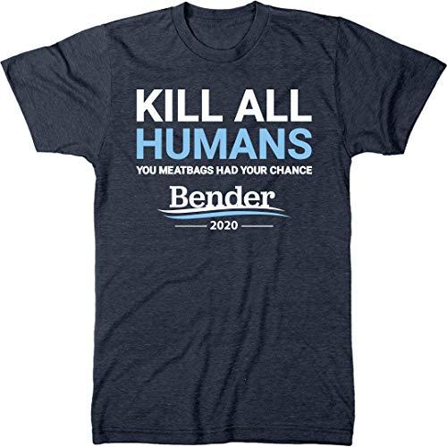 Bender 2020 Campaign Slogan Men's Modern Fit Tri-Blend T-Shirt (Vintage Navy, XX-Large)