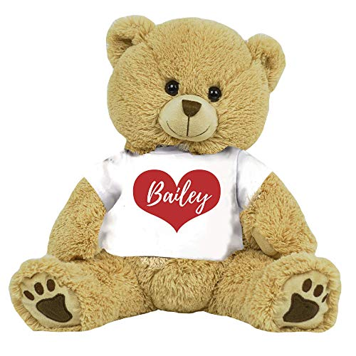 PaperGala 16' Bear Choose Your Color Teddy Bear Personalized Name for Anniversary Birthday Custom Gift for Girlfriend Boyfriend Valentines Day