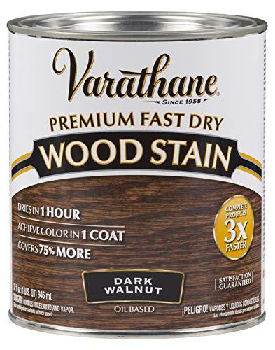 Varathane 262006 Premium Fast Dry Wood Stain, Quart, Dark Walnut