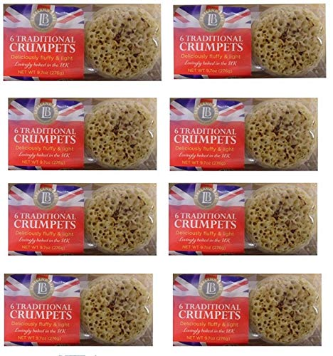 Bundle of 8 items Lakeland Bake, Traditional British Crumpets, 6ct, Product of UK – GMO FreeExpiry June 2021 Delivers 3-5 Days USA