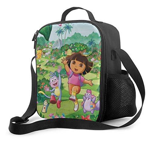 Qushy Dora The Explorer 3 Lunch Bag Cooler Bag Lunch Box Soft Liner Lunch Bags for School