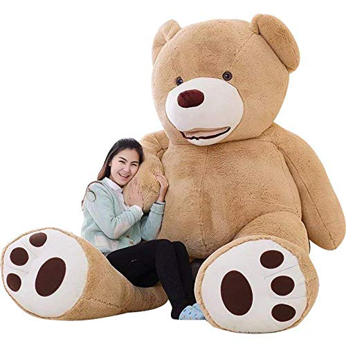 IKASA Giant Teddy Bear Plush Toy Stuffed Animals 6.5 Foot (Brown, 78 inches)