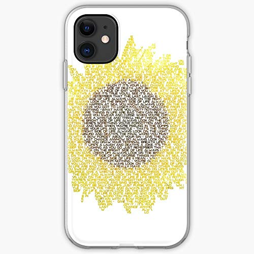 of Yellow Always Bright Side Life Python Flower Monty Text Look | Phone Case for iPhone 11, iPhone 11 Pro, iPhone XR, iPhone 7/8 / SE 2020