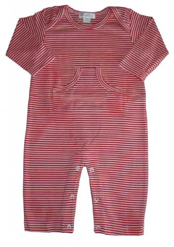 Kissy Kissy Baby Boys Essentials Striped Playsuit-Red-0-3 Months