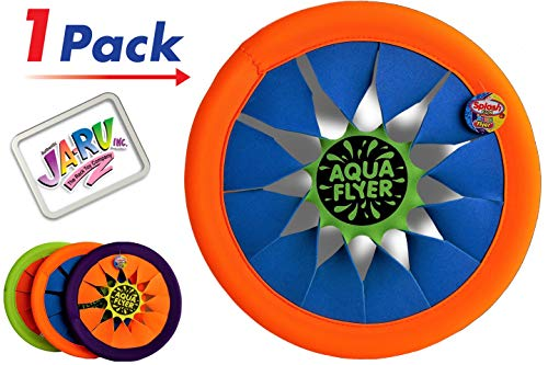 JA-RU Soft Frisbee Throwing Disc Splash Fun Aqua Flyer 12' (1 Assorted) Flying Discs for Kids & Adult Toys. Safe Easy and Professional. 1031-1