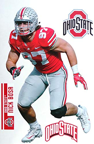Nick Bosa FATHEAD Ohio State Buckeyes Logo Set Official NCAA Vinyl Wall Graphics 17' INCH