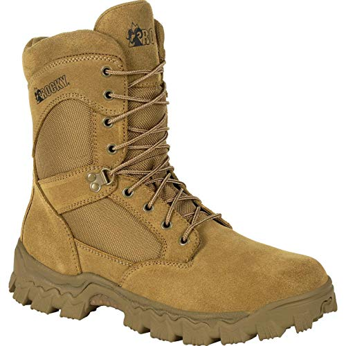 Rocky Alpha Force 8 Inch Duty Boot Size 9.5(M) Brown