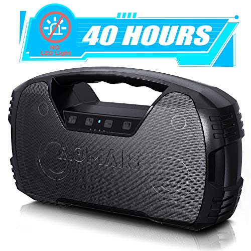 Portable Waterproof Bluetooth Speaker, 40-Hour Playtime Wireless Outdoor Speakers, 25W Rich Bass Impressive Sound, Stereo Pairing, Built-in Mic, 100ft Bluetooth for Home Party (NO LED Lights)