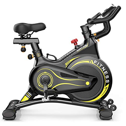 Exercise Bike,Ultra-Quiet Infinitely Variable Speed Adjustable Seat& Handle Spinning Bike for Gym Home Office